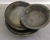 Vintage Small Pie Tins, Metal Pie Plates, 4 Piece Assortment
