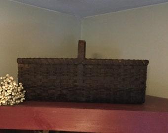 Extreme Primitive Rectangular Market Basket, prim decor, farmhouse style, country rustic