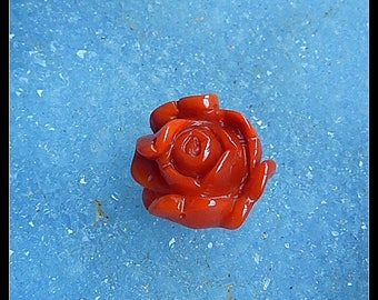 HandCarved  Zhanguo Red Agate Gemstone Flower Gemstone Cabochon,18x17x11mm,4.0g(e0887)