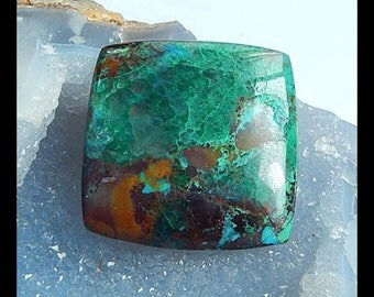 Chrysocolla Gemstone Cabochon,46x46x8mm,33.7g