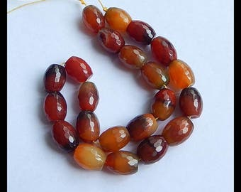 Red Agate Faceted Gemstone Loose Bead,1 Strand,33.5cm In The Length,68.5g