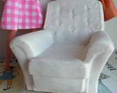Vintage Pedigree Sindy White armchair Original seventies Dollhouse Furniture for Blythe, Skipper, Sindy, Tammy, Pepper