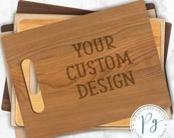 Your Custom Design Cutting Board,  Custom LWalnut Cutting Board, Engraved Maple Cutting Board, Personalized Cherry Cutting Board