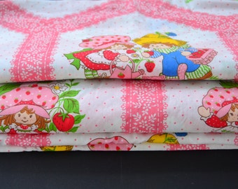 Strawberry Shortcake Huckleberry Pie Pink Vintage Fabric by the yard