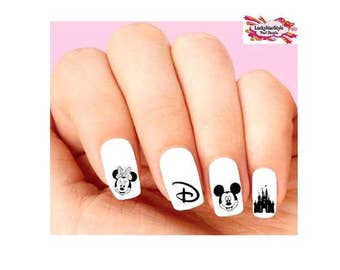 Waterslide Nail Decals Set of 20 -  Disney Vacation, Castle, Minnie & Mickey Assorted