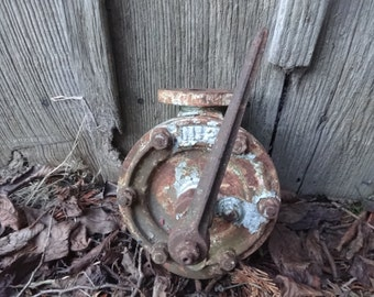 Antique English ships industrial factory valve tap industrial machinery circa 1900-20's / English Shop