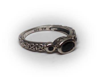Sterling Silver Smokey Quartz Fashion Ring