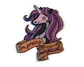 Unicorn iron on patch,  applique