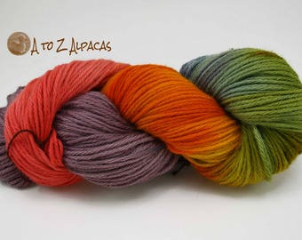 Hand Dyed Royal Baby Alpaca Yarn Bulky Weight Rainbow #2