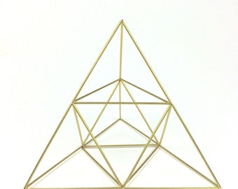 Pyramid air planter and table sculpture - medium