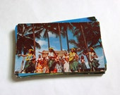 35 Vintage Hawaii Unused Chrome Postcards Blank - Unique Travel Wedding Guest Book, Reception Decor, Travel Journal Supplies