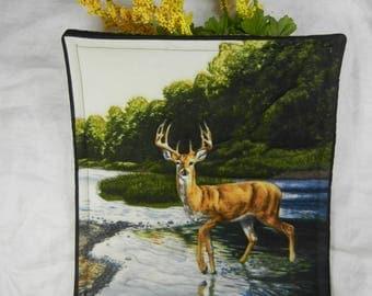 Quilted Trivet - Adirondack Deer