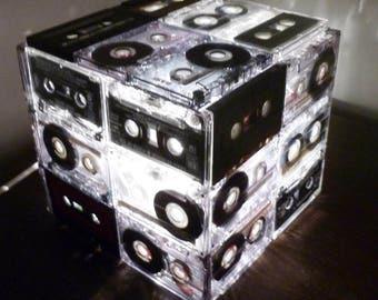 Cassette Tape Lamp Cube