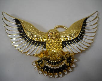 Vintage Open Winged Eagle Enameled Belt Buckle FREE SHIPPING