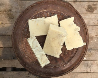 Peppermint Oatmeal- Grass fed Goats Milk Soap