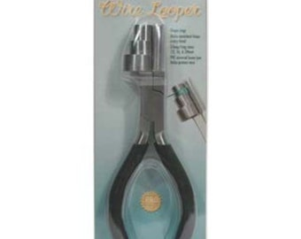 Wire looping pliers, for making loops in wire and forming ring blanks
