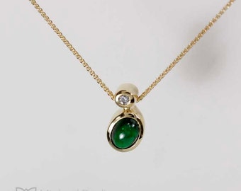 Chrome Green Tourmaline Pendant