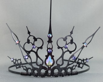Lavender Gothique - Black Filigree Gothic Tiara Evil Queen Crown Evil Queen Tiara Once Upon a Time - Ready to Ship