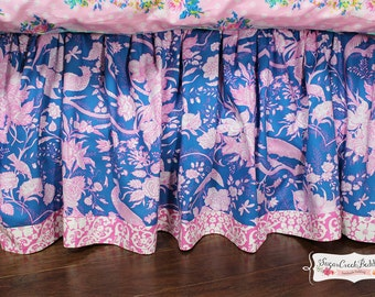 SOPHIE TOILE Gathered Bed Skirt with Contrast Banding