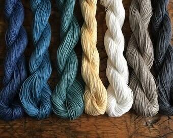 Flax Yarn, DK Weight, 50 Grams, Crochet, Knitting, Weaving