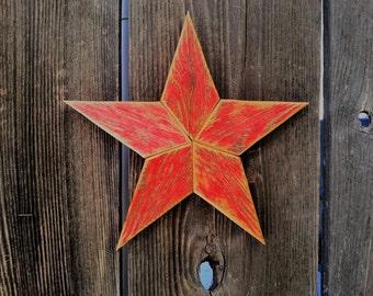 "8"" Rustic wood star #514"