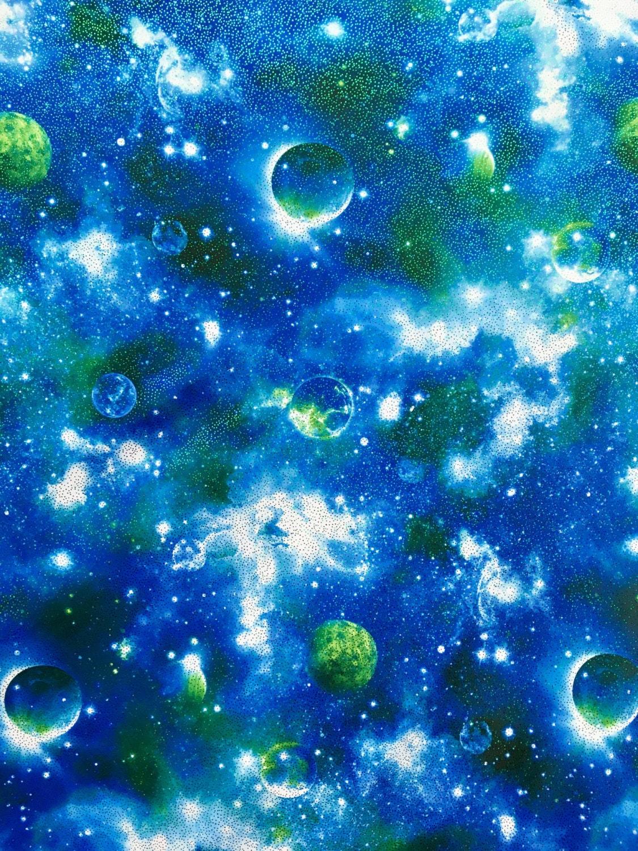 4 way stretch printed metallic galaxy spandex fabric for Galaxy fabric canada
