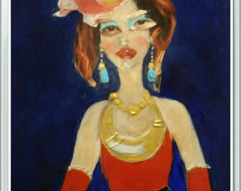 My Fair Lady at Lyric Opera in Chicago.  Original Painting . Collectible Art .Home Decor. Art Gift .