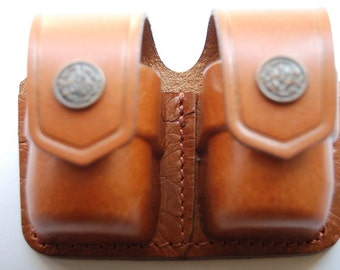 Speed Loader Double Leather Pouch Fit to 5,6 shot 38 Special 357,44 Magnum