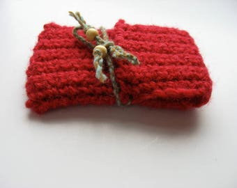 small wool travel card case