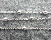 half sale-silver brass ball chains -16 feet -jewelry handmade must-have-F266