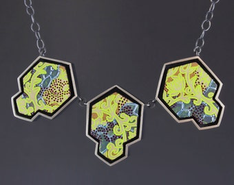 One of a Kind Mixed Media Necklace in Sterling Silver | CSNT1