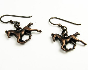 Horse Earrings (Western Jewelry with Animals for Cowgirl, Horse Lover) - Hypoallergenic Earrings
