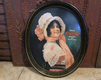 Vintage 1914 'Betty Girl' reprint in 1970's  'Coca Cola' serving tray!