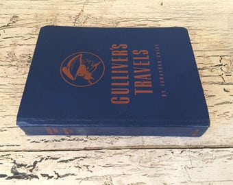 Gulliver's Travels - 1940 - Rustic, Vintage Copy with Browned Pages