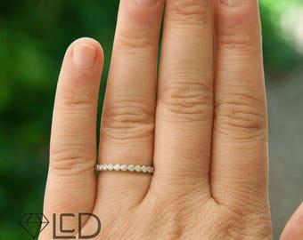 Vintage Inspired Diamond Stacking Wedding Band Diamond Anniversary Band Diamond Ring