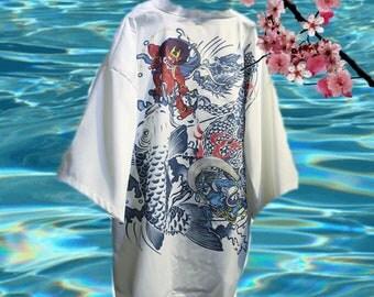 Woman's onesize koi kimono