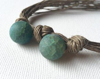 NatuRal Agate - linen necklace