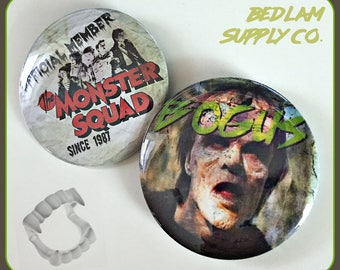 """Monster Squad Set - Large 2 1/4"""" Pin Back Buttons"""