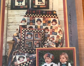 Vtg Annie Andy Quilt Pattern Uncut Appliqué Pillow Clothing New Old Stock 1994