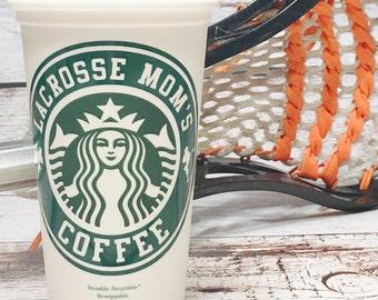 Lacrosse Mom Starbucks travel tumbler