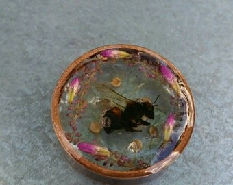 Honeybee Tomb Copper Resin Bezel by AfterWork