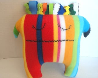 Rainbow Monster Toy, Nursery Decoration, Baby Shower Gift
