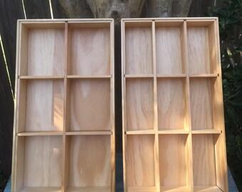 Wooden Drawer Organizer - Jewelry Trays - Jewelry Storage - Art Supply Storage - Makeup Organizer - Bead Storage Box - Craft Organizer