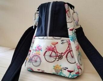 Point and Shoot Camera Bag-Cute-Chic-Fun-Small Camera bag-Detachable shoulder strap-Vingtage Bicycle