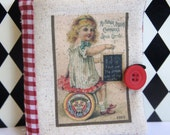 Needle Book/Keep with Vintage  Sewing Thread Ad ~ OOAK