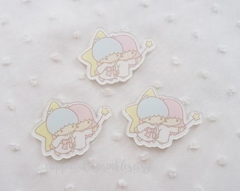 1pc - Kitschy Little Twin Stars Flying Acrylic Decoden Cabochon (35x45mm) LTS005