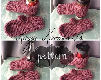 Drink Mittens | Beer Mitts | Drink Mitts | Bonfire Mitts (CROCHET PATTERN)