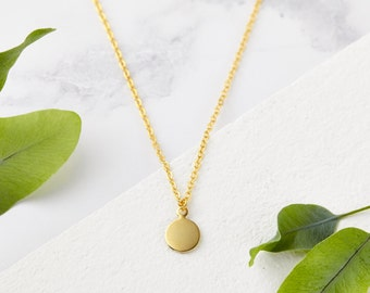 Dainty Gold Necklace - Delicate Necklace, Gold Necklace, Bridesmaid Necklace, Bridesmaid Gift, Bridesmaid Jewellery, Charm Necklace, Gold