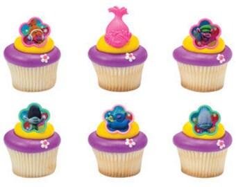 Troll Cupcake Rings/ Favors