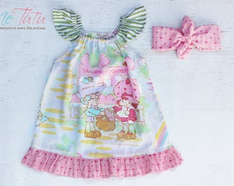 Vintage Retro Strawberry Shortcake Girl Baby Girl Dress Birthday
